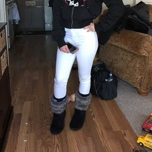 white abercrombie skinny jeans